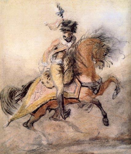 Théodore Géricault - Bewaffneter Reiter