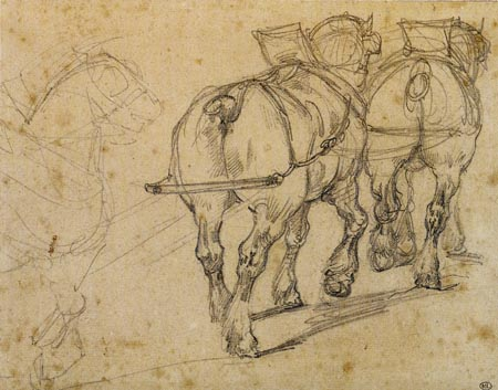 Théodore Géricault - Treidelpferde