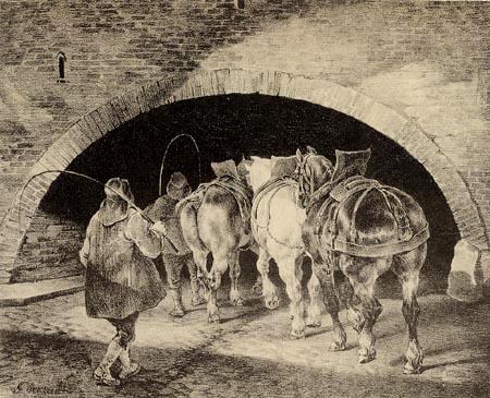 Théodore Géricault - Entrance to the Adelphi Wharf
