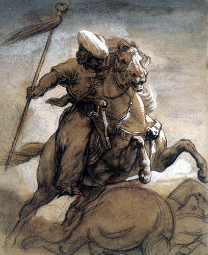 Théodore Géricault - Türkischer Reiter im Kampf