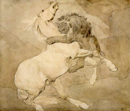 Théodore Géricault - Lion Attacking a Horse