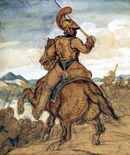 Théodore Géricault - Karabiniere zu Pferde