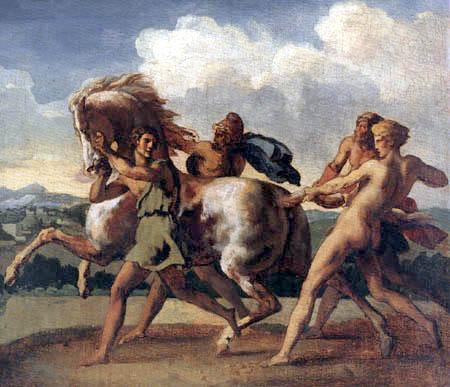Théodore Géricault - Von Sklaven eingefangenes Pferd