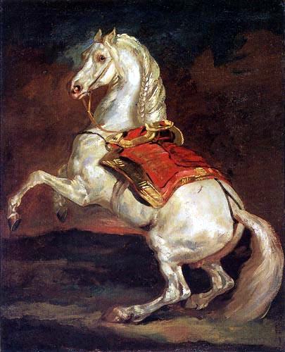 Théodore Géricault - Sich aufbäumendes Pferd