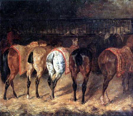 Théodore Géricault - Fünf Pferde