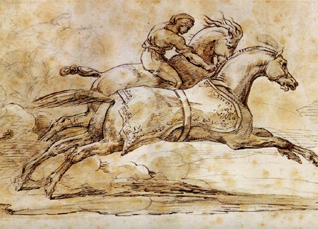 Théodore Géricault - Eingefangenes Rennpferd