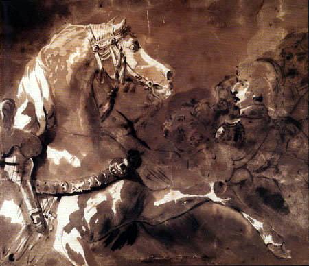 Théodore Géricault - Die Schlacht bei den Pyramiden