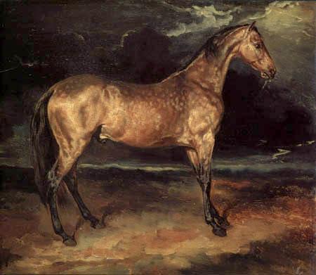 Théodore Géricault - Erschrecktes Pferd bei einem Gewitter