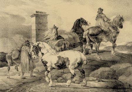 Théodore Géricault - Pferde gehen auf ein Fest