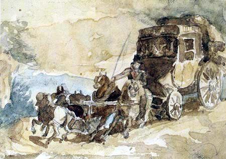 Théodore Géricault - Die Postkutsche