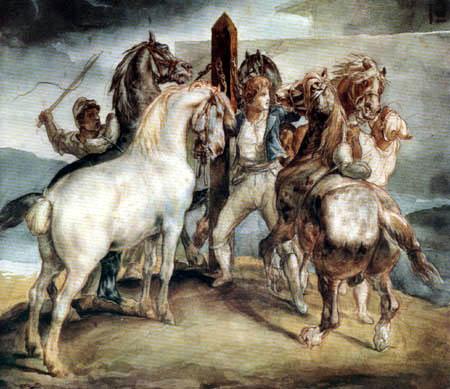 Théodore Géricault - Pferdemarkt