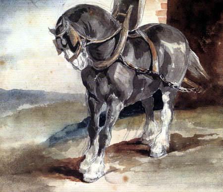 Théodore Géricault - Horse before a Stable