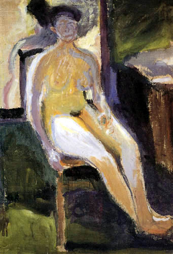 Richard Gerstl - Seated Female Nude