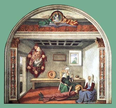 Domenico (di Tommaso) Ghirlandaio (Bigordi) - The death of Saint Fina