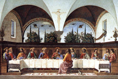 Domenico (di Tommaso) Ghirlandaio (Bigordi) - Das Abendmahl