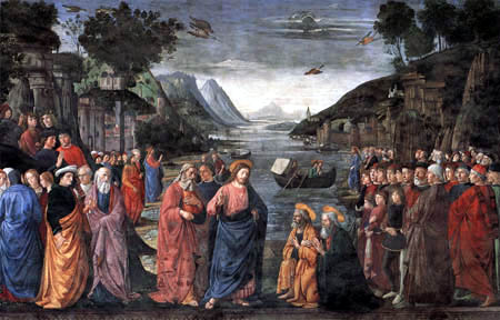 Domenico (di Tommaso) Ghirlandaio (Bigordi) - The appointment of the first disciples