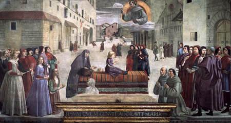 Domenico (di Tommaso) Ghirlandaio (Bigordi) - Resurrección de un niño