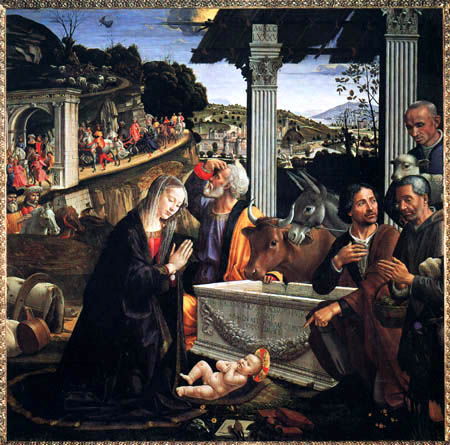 Domenico (di Tommaso) Ghirlandaio (Bigordi) - The Adoration of the Herdsmen