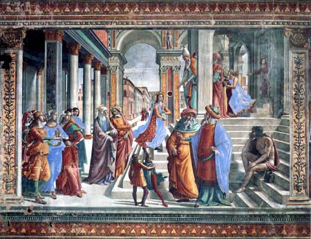 Domenico (di Tommaso) Ghirlandaio (Bigordi) - The Presentation of the Virgin in the temple