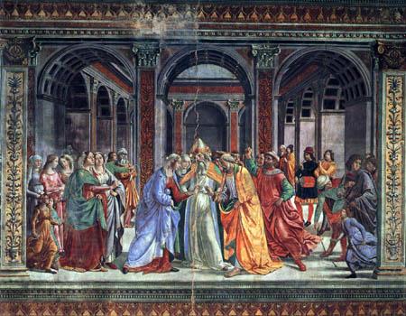 Domenico (di Tommaso) Ghirlandaio (Bigordi) - The espousal of Mary