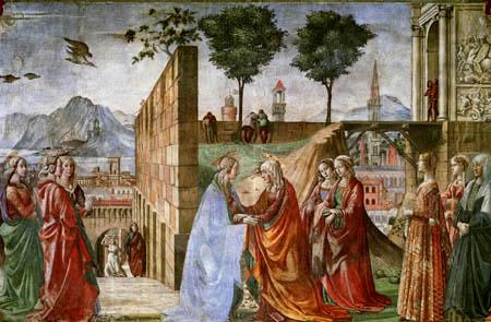 Domenico (di Tommaso) Ghirlandaio (Bigordi) - Heimsuchung