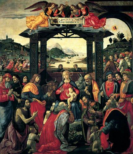 Domenico (di Tommaso) Ghirlandaio (Bigordi) - The Adoration of the Magi