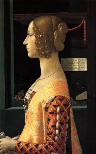 Domenico (di Tommaso) Ghirlandaio (Bigordi) - Portrait of Giovanna Tornabuoni
