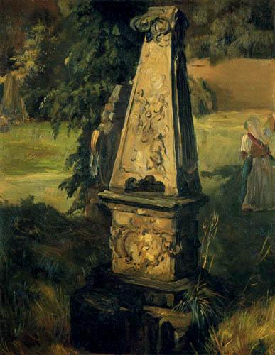 Christian F. Gille - Grabdenkmal auf einem altem Friedhof
