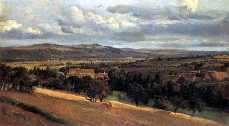 Christian F. Gille - Landschaft vor Leubnitz