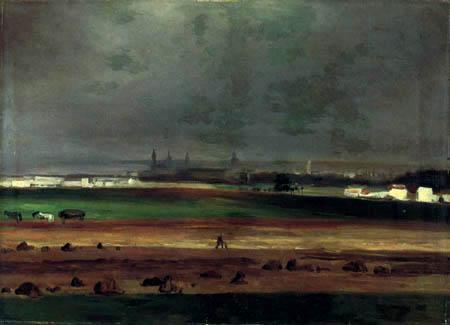 Christian F. Gille - Blick auf Dresden