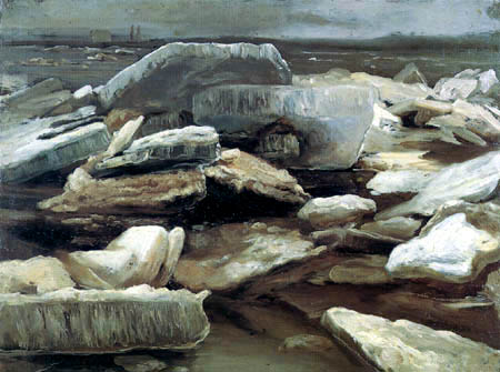 Christian F. Gille - Ice floes on the Elbe