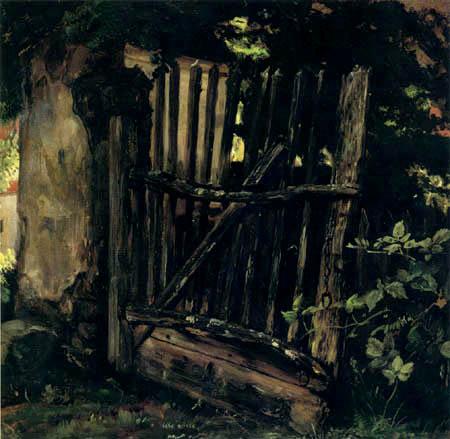 Christian F. Gille - Eine Gartentür