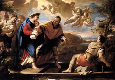 Luca Giordano - La fuite vers l'Egypte