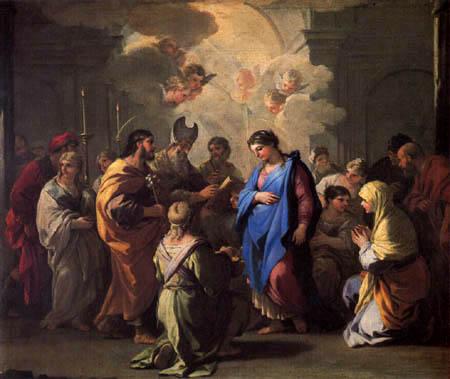 Luca Giordano - El enlace de Maria