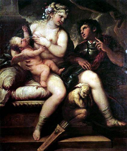 Luca Giordano - Venus, Cupid und Mars