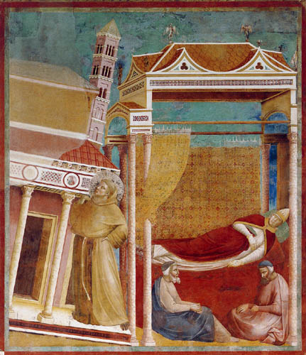 Giotto (di Bondone) - Der Traum des Innocenzo III.