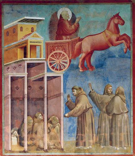 Giotto (di Bondone) - Die Vision mit dem Feuerwagen