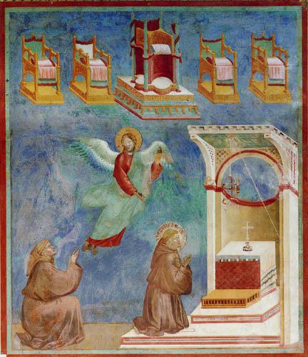 Giotto (di Bondone) - The Vision of the throne of heaven
