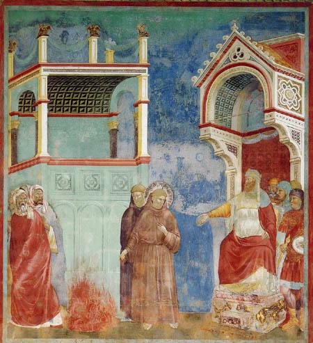 Giotto (di Bondone) - The fire test