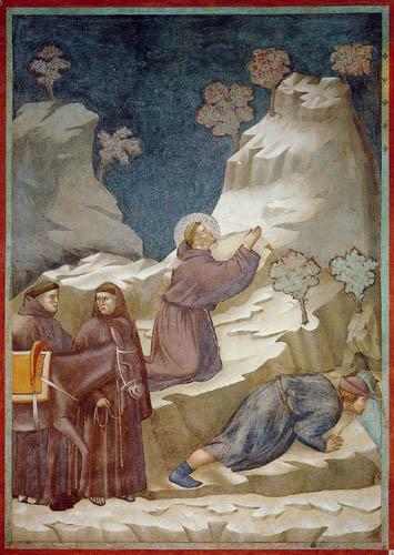 Giotto (di Bondone) - Das Wunder an der Quelle