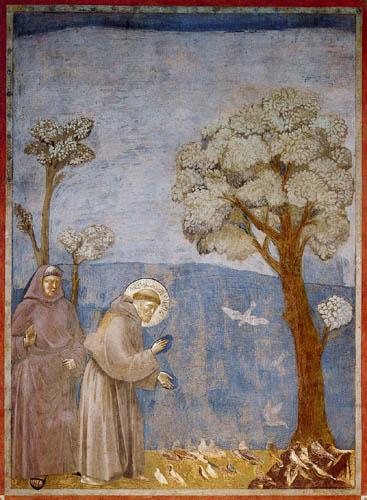 Giotto (di Bondone) - The bird sermon of St. Francis