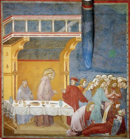 Giotto (di Bondone) - The death of a knight of Celano