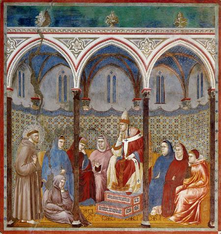 Giotto (di Bondone) - The sermon by Onorio III