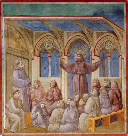 Giotto (di Bondone) - Apparition in Caitolo di Arles
