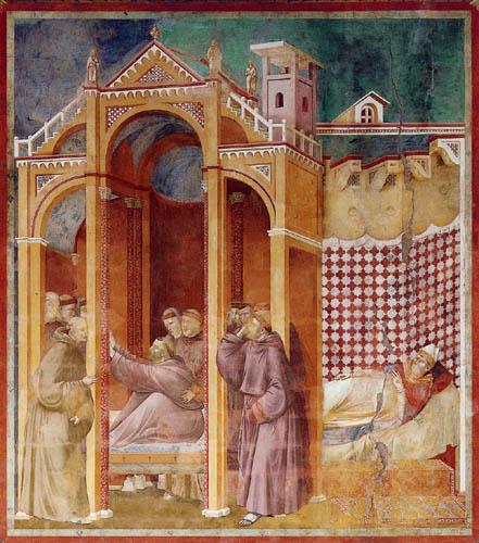 Giotto (di Bondone) - The vision of Augustine
