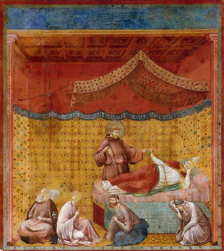 Giotto (di Bondone) - Apparition of Gregorio IX.