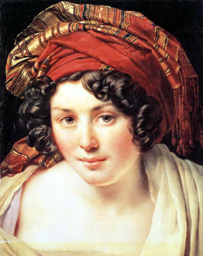Anne Louis Girodet de Roussy (Roucy)-Trioson - Young Turk with turban