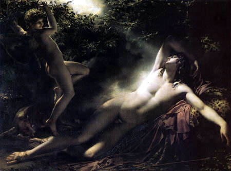 Anne Louis Girodet de Roussy (Roucy)-Trioson - The sleep of Endymion