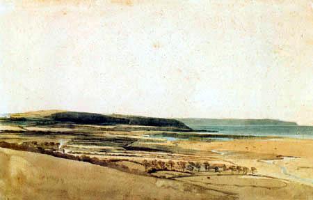 Thomas Girtin - Estuary of the River Taw, Devon