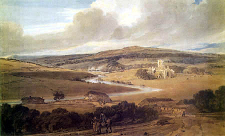 Thomas Girtin - Kirkstall Abbey, Yorkshire